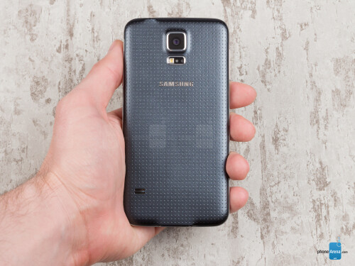 The design and finish of the Galaxy S5's back cover