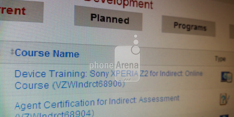 Leaked screenshot reveals that Verizon reps are getting trained on the Sony Xperia Z2 - Leaked Verizon screenshot shows that the Sony Xperia Z2 is still coming to the carrier