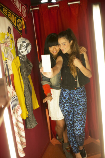 Ladies taking a selfie with the Sony Xperia C3