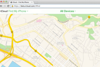 Apple employs its own mapping application for the iCloud beta version of Find My iPhone