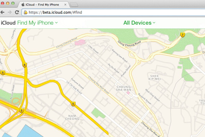 Apple employs its own mapping application for the iCloud beta version of Find My iPhone - New Find My iPhone beta replaces Google Maps with Apple Maps