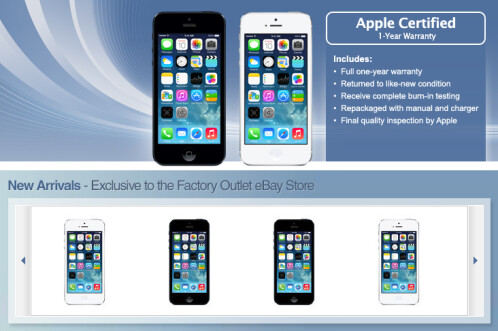 Apple and eBay team up to sell refurbished factory unlocked GSM flavored Apple iPhone 5 models