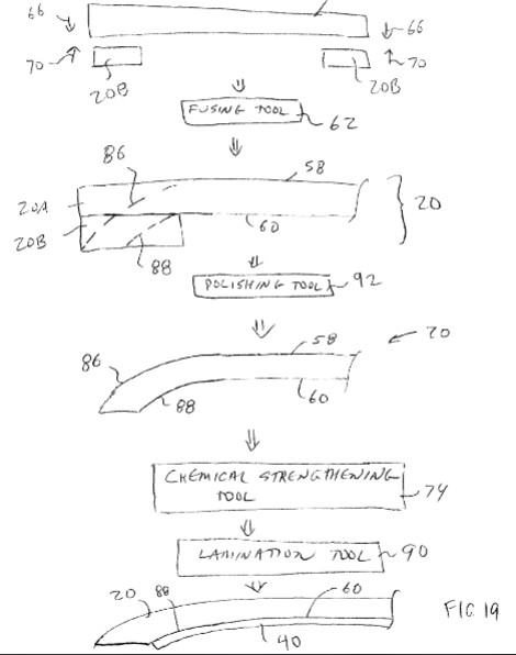 Diagram from Apple's patent award - Apple patent award could lead to all-glass iPhone