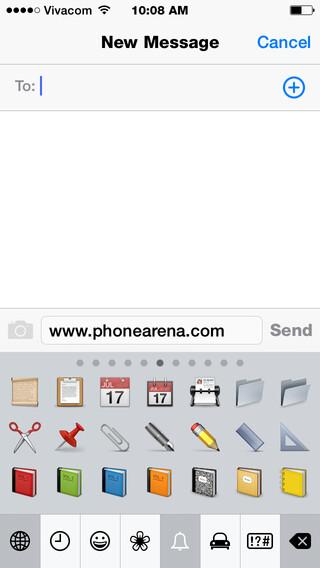 Emoji in iOS