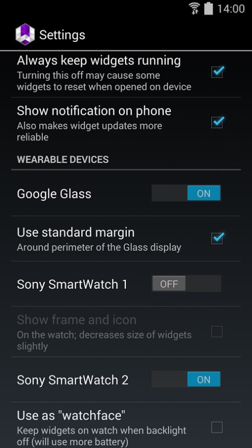 Wearable Widgets puts your favorite widgets from your smartphone to your smart-watch