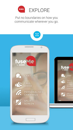 FuseMe is a next-gen chat app that is both secure, and full of features, like video streaming and a split-screen mode