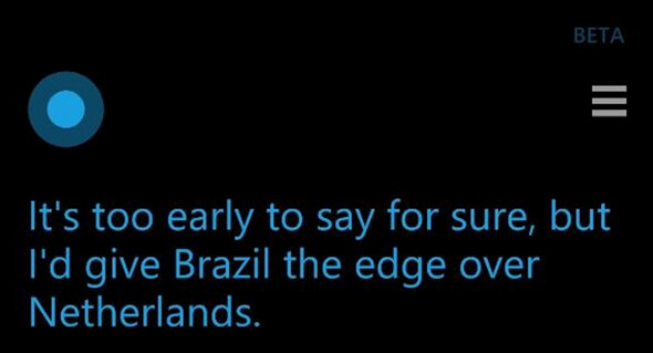 Cortana takes her first loss in the Knockout round - Cortana's World Cup streak ends at 14