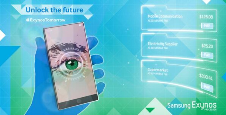 Is this image hinting that a retina scanner will be on the Samsung Galaxy Note 4? - Samsung hints at retina scanner for the Samsung Galaxy Note 4?
