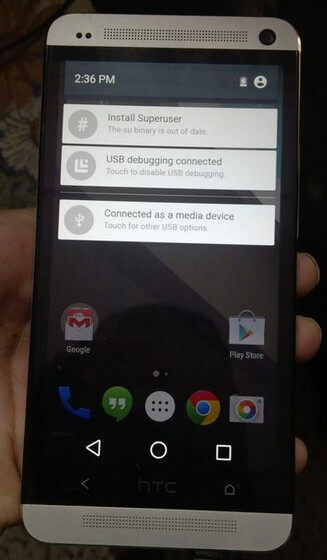 Android L on the HTC One (M7)