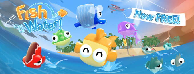 Fish Out Of Water! finally skips to Android as a free game, fish jouncing ensues