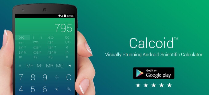 Calcoid for Android is the sexiest scientific calculator alive
