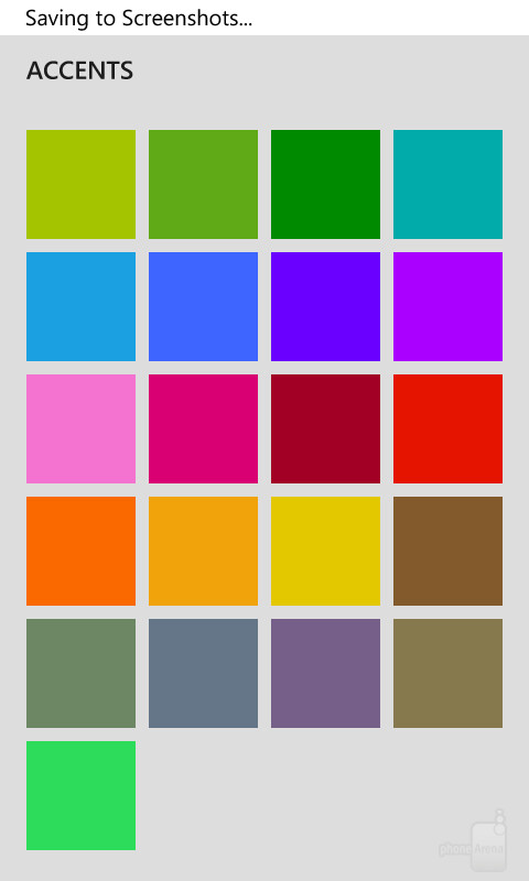 Accent colors in Windows Phone