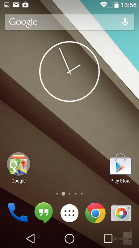 The stock Android clock widget