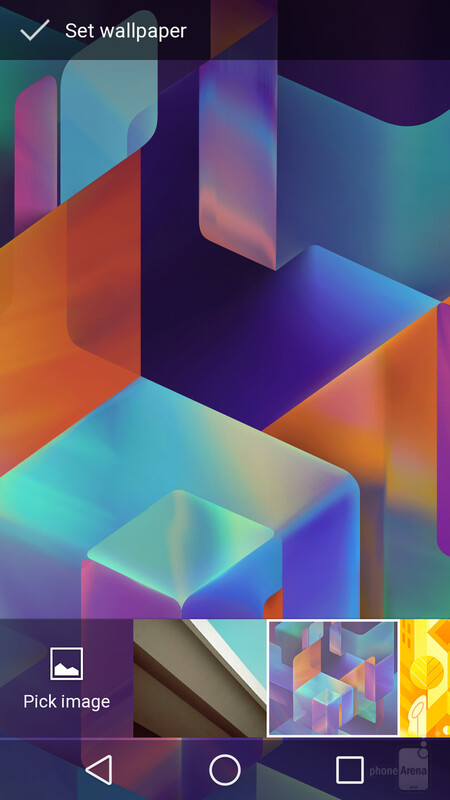 Choosing a wallpaper in Android