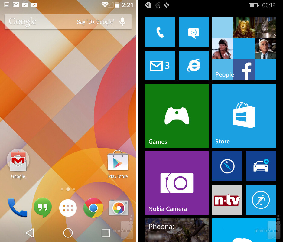 Android L vs Windows Phone 8 1: Guess who's catching up