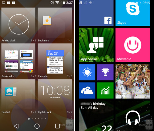 Widgets and Live Tiles