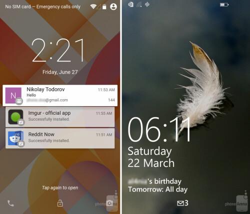 Lock screen notifications