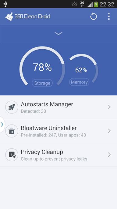 360 Clean Droid runs circles among Android smartphone optimization apps