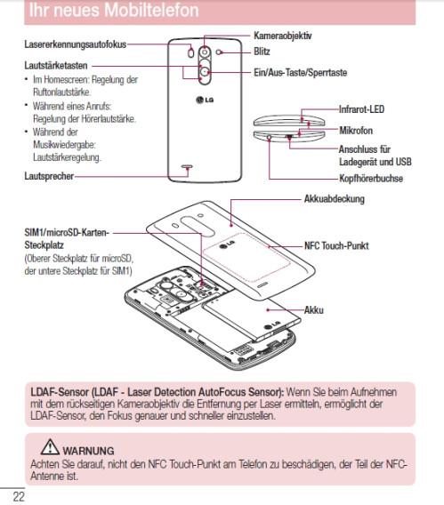 LG G3 S (G3 mini) user manual leaked