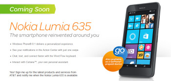 The Nokia Lumia 635 is coming to AT&T