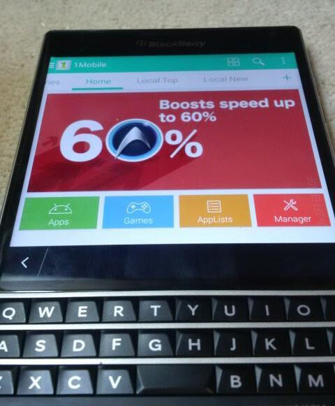 The BlackBerry Passport and its square display