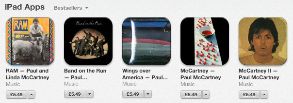 Five McCartney albums are now apps for the Apple iPad - Yeah! Yeah! Yeah! Five McCartney albums are now apps for the Apple iPad