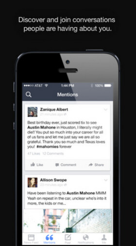 Facebook Mentions is the app designed for celebrities