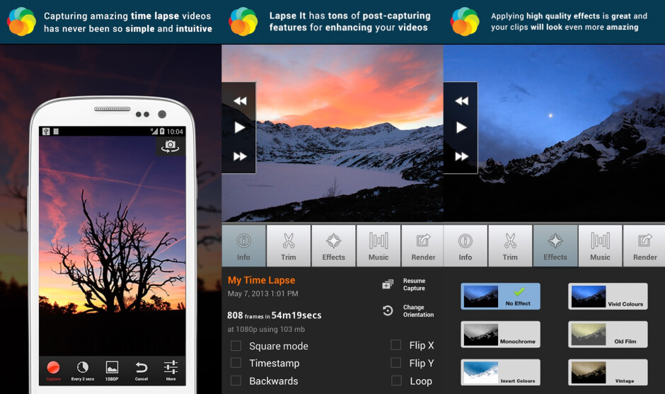 How to record time-lapse videos on Android