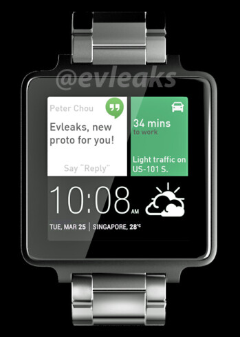 Is this what HTC's first Android Wear smartwatch looks like?