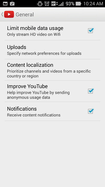 Control YouTube video quality