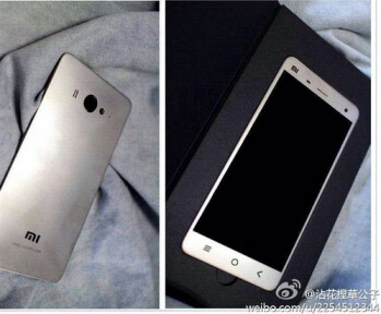 Photos allegedly show the back and front of the Xiaomi Mi4