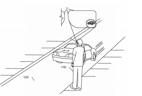 Patent will allow smart glasses to warn the user if a car poses a threat