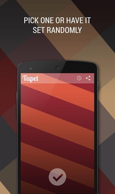 Tapet is an app that comes up with Nexus-style chequered pattern wallpapers on the spot