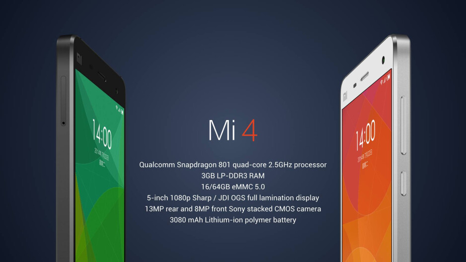 Xiaomi Mi 4 officially unveiled: claims to be the fastest smartphone in the world
