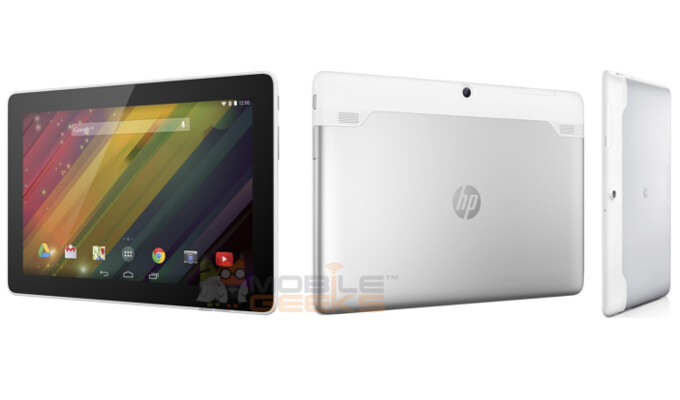 HP Slate 10 Plus, to the right - backplate of Huawei MediaPad 10 Link