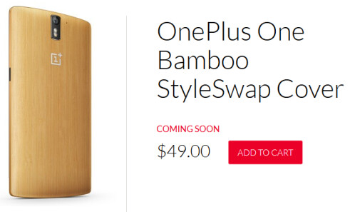Bamboo back cover for the OnePlus One