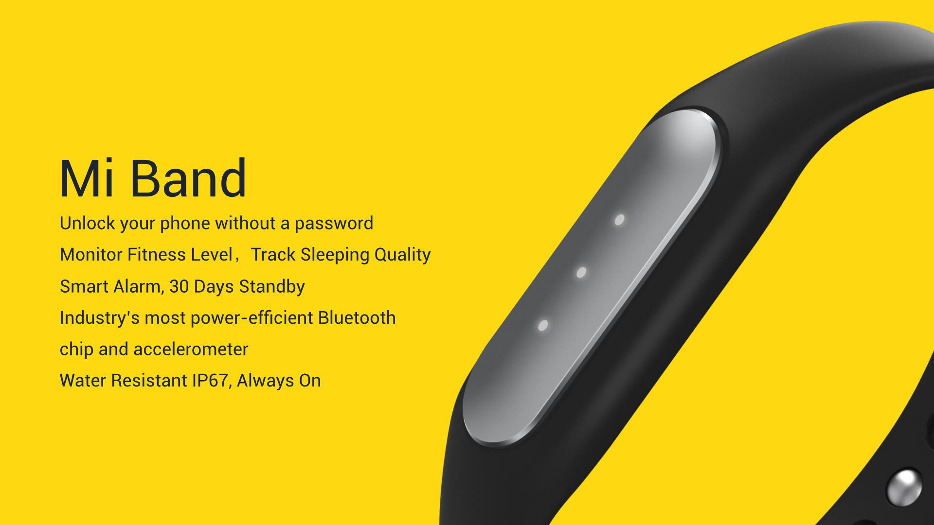 Xiaomi Outs The Mi Band An Affordable Fitness Wearable