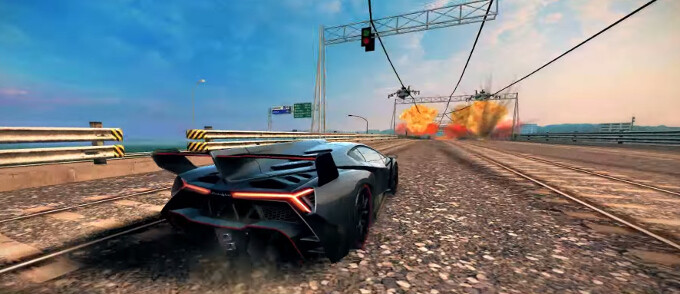 When worlds collide: Asphalt 8 pays homage to the upcoming Modern Combat 5