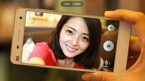 Front camera: beauty effect on