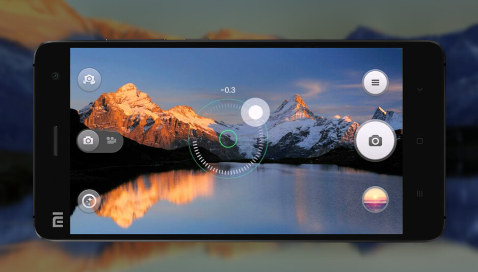 Xiaomi Mi 4 camera interface allows easy exposure adjustment - Xiaomi Mi 4 camera spotlight: one of the first with Sony's new 13-megapixel IMX214 sensor, demo images show it off