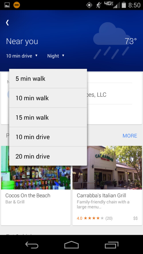 "Google rolling out update to the ""Explore Nearby"" options in Maps"