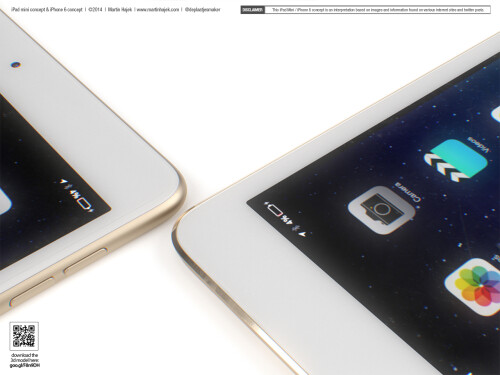 iPhone 6 and iPad mini 3 concept by Martin Hajek (late July)