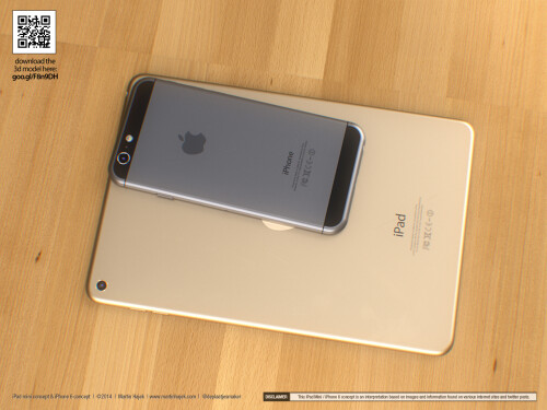 iPhone 6 and iPad mini 3 concept by Martin Hajek (late July)
