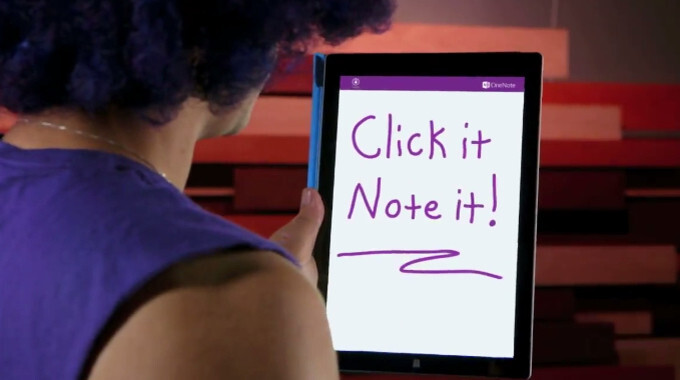 Click it and I Note it: Microsoft's latest video ad for the Surface Pro 3 is excessively peculiar