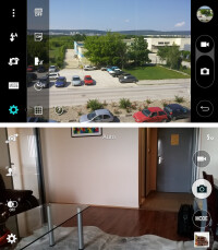 Camera UI - G3 (top), Galaxy S5 (bottom)