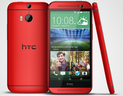 HTC One (M8) in red and pink