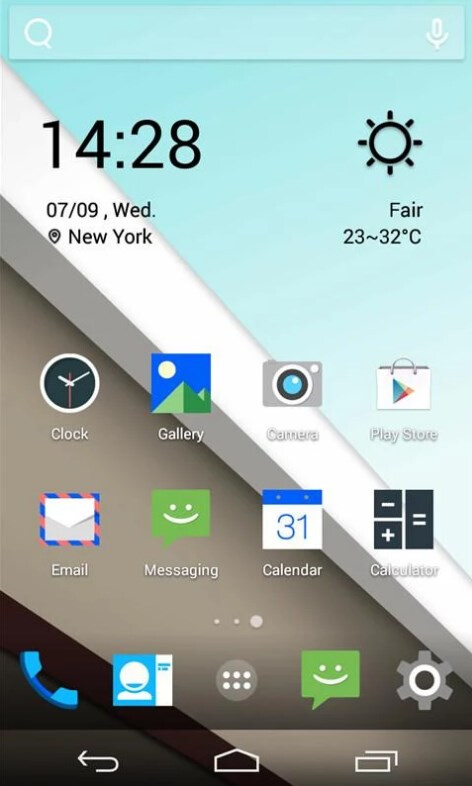 Android L Icons & Weather Skin