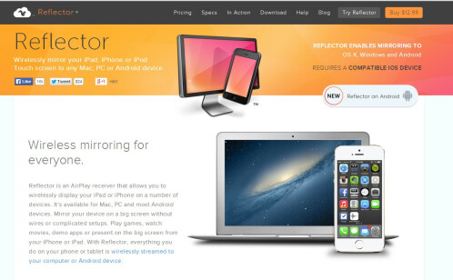 Navigate over to Reflector's website: