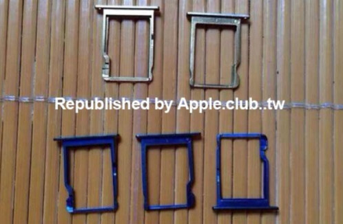 Parts allegedly from the 5.5 inch Apple iPhone are photographe