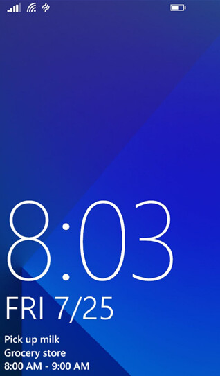 Six different layouts for the Live Lock Screen beta app